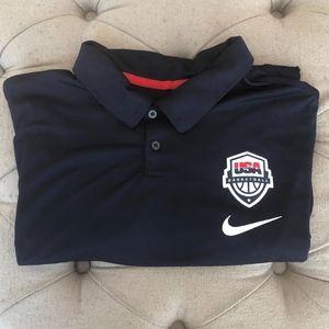 Nike Official USA Basketball drifit polo shirt XXL